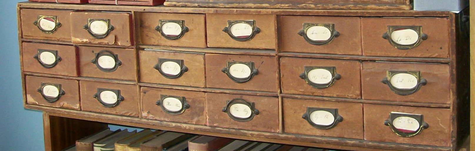 Part of Alfred Marshall card catalogue