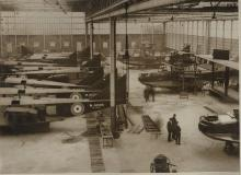 Shorts F3 flying boats under construction 1