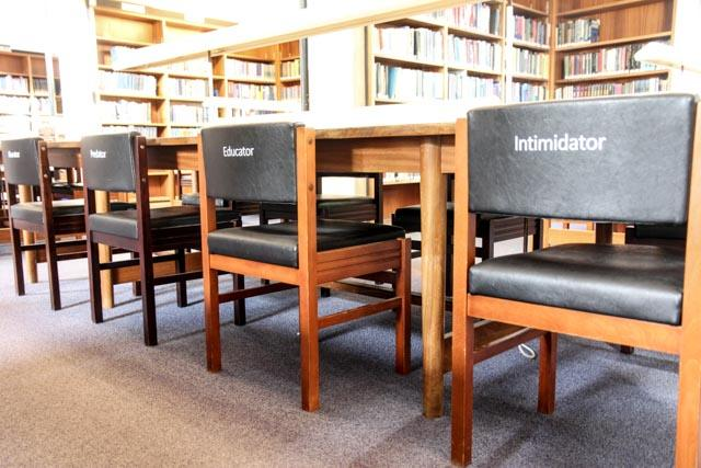 AnnaMaria Kardos talking about her art installation at the Library: Sat 25/10/2014, 11:30am