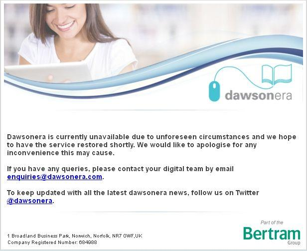 Ebooks: Dawsonera platform is available again