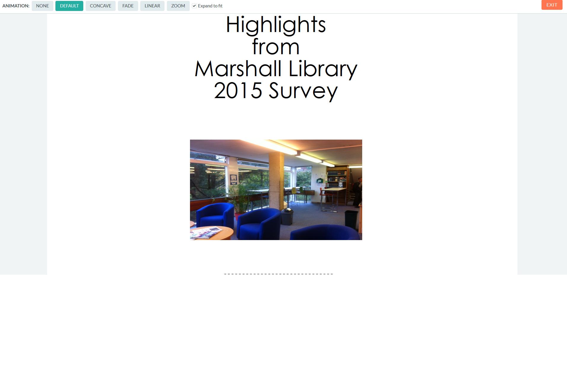 Library Survey 2015: highlights