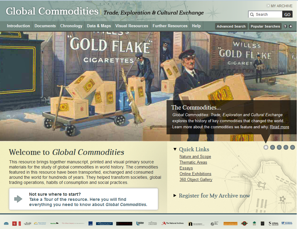 Trial e-resources: Global commodities (until 31 October 2015)